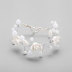 Legering / Imitatieparel Dames Cuff armband Armbanden Imitatie Parel