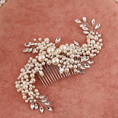 נשים נערת פרחים ריינסטון דמוי פנינה כיסוי ראש-חתונה אירוע מיוחד מסרקי שיער חלק 1
