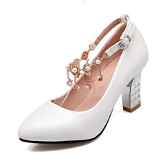 Women's Pearl Tassel Wedding Shoes Heels / Crystal Heel Party & Evening / Dress Blue / Pink / White
