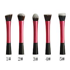 Powder Blush Blusher Foundation Contour Makeup Brushes Set Cosmetic Tool(Pink)