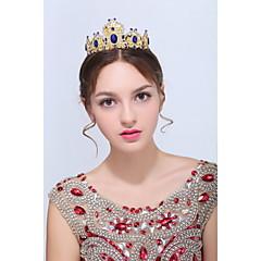 Dame Gull / Legering Headpiece-Bryllup / Spesiell Leilighet / Avslappet Diademer 1 Deler Blå Oval