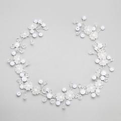 Vrouwen / Bloemenmeisje Kristallen / Licht Metaal / Imitatie Parel Helm-Bruiloft / Speciale gelegenheden Hoofdbanden 1 Stuk Wit Rond