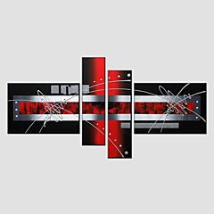 Handgemalte AbstraktModern / Europäischer Stil Vier Panele Leinwand Hang-Ölgemälde For Haus Dekoration