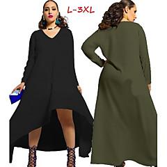 Informell V-Ausschnitt - Langarm - FRAUEN - Kleider ( Polyester )