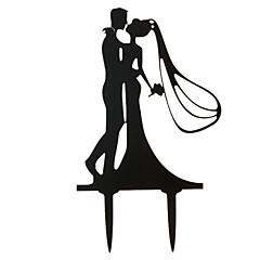 Tortenfiguren & Dekoration Nicht-personalisierte Klassisches Paar Acryl Hochzeit / Jubliläum / Brautparty SchwarzGarten Thema /