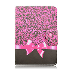 SZKINSTON Beautiful Leopard Bow For Shockproof / with Stand / Auto Sleep/Wake / Magnetic / Pattern Case Full Body Case PU Leather iPad mini 1/2/3/4