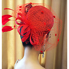 lady's Top Hat Fascinators Lace Veil for Wedding Party Hair Jewelry