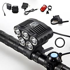 Eclairage de Vélo / bicyclette LED 5 Mode 6000 Lumens Etanche / Rechargeable / Résistant aux impacts / Tête crénelée / Tactique / Urgence