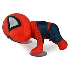 360 fokban forgatható aranyos 16cm hegymászó Pókember balek baba játék auto autós matrica dekoráció fekete / piros