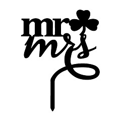 The Clover  Mr and Mrs Cake Topper