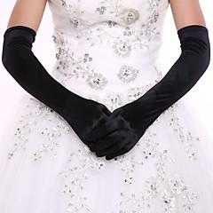 Operalengte Vingertoppen Handschoen Spandex Bruidshandschoenen Feest/uitgaanshandschoenen Lente Herfst Winter