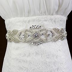 Hand Made Satin Wedding / Party/ Evening Sash - Pearls / Crystal / Rhinestone Women's Sashes