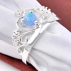 ステートメントリング ジェムストーン 銀メッキ 幾何学形 誕生石です. ジュエリー 結婚式 パーティー 日常 カジュアル スポーツ 1個