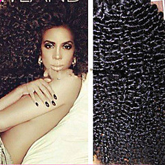 Luffy Hair Unprocessed Mongolian Kinky Curly Hair Weave Natural Color Afro Kinky Curly Virgin Hair Extensions 3pcs/set