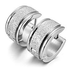 Ring oorbellen Oorbel Roestvast staal Zilver Sieraden Voor 1 stuks
