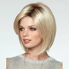 alta qualidade de cor mix loira peruca sintética estrondo lado