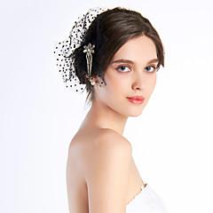 Vrouwen Chiffon Helm-Bruiloft / Speciale gelegenheden / Informeel / Buiten Fascinators / Bloemen Helder Vierkant