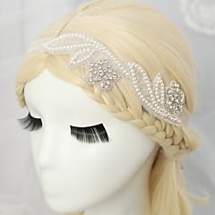 Damen / Blumenmädchen Strass / Künstliche Perle / Chiffon Kopfschmuck-Hochzeit / Besondere Anlässe Stirnbänder 1 Stück Weiß Rund