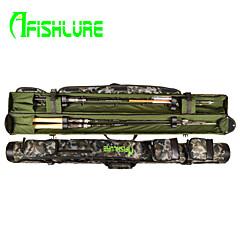 afishlure®new suunnitella kaksinkertainen auki onki putki vieheellä sauva laukku 1.45mblack / naamiointi 145cmx10cmx10cm