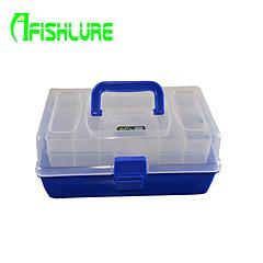 afishlure kolmikerroksista monikäyttöinen kannettava tapauksessa kalastusvälineet laatikot houkutella laatikko vedenpitävä 3 lokerot 30cm