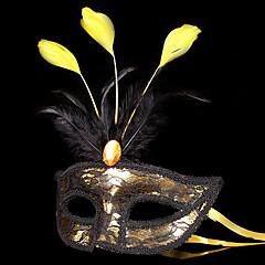 Maske / Maskerade Engel & Teufel Fest/Feiertage Halloween Kostüme Rot / Goldfarben / Silber Patchwork Maske Halloween / Karneval Unisex