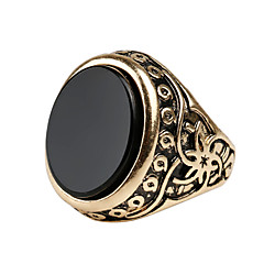 Men's Retro Ethnic style Carved Alloy Jewels Ring 03