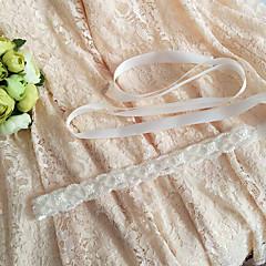 Saten Vjenčanje / Zabava / večer / Svakodnevica Pojas-Perlice / Aplikacije / Biseri Žene 98 ½ u (250cm) Perlice / Aplikacije / Biseri