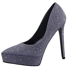Women's Shoes Glitter Stiletto Heel Heels Heels Wedding / Dress Black / Blue / Pink / Silver / Gray / Gold