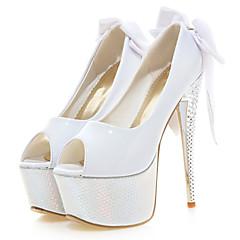 Women's Shoes Patent Leather Stiletto Heel Peep Toe / Platform Heels Wedding / Party / Dress Black / Red / White