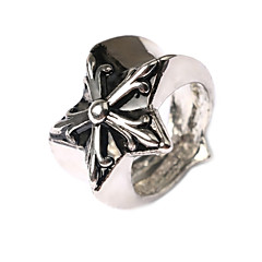 Men's Retro Personality Exaggerated Gothic Style Star Shape Alloy Plating Ring