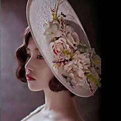 Mulheres Linho / Tecido Capacete-Casamento / Ocasião Especial / Ao ar Livre Chapéus 1 Peça