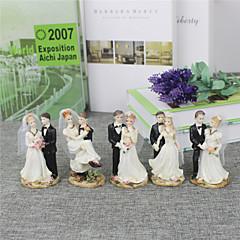 Kakkukoristeet Non-personalized Klassinen pari Resin Häät / Vuosipäivä / Bridal Shower-kutsut MustaRanta-teema / Puutarha-teema /