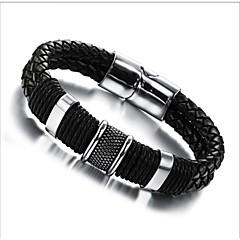 Insert magnetic buckle leather bracelet 18.5CM/20.5CM/22CM