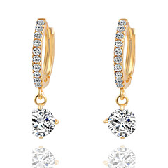 Temperament  Fresh Crystal Geometric Shape Earrings
