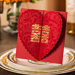 Personalized Double Gate-Fold Wedding Invitations Invitation Cards / Engagement Party Cards-50 Piece/Set Classic Style Hard Card Paper