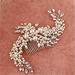 Women's Flower Girl's Alloy Imitation Pearl Cubic Zirconia Headpiece-Wedding Special Occasion Hair Combs 1 Piece