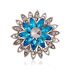 Femme Acrylique Strass Céramique Imitation de diamant Alliage Mode Violet Café Bleu Bijoux Mariage Soirée Quotidien