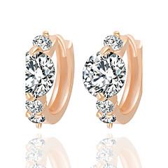 Luxury Popular Temperament  Transparent ZirconHoop Earrings