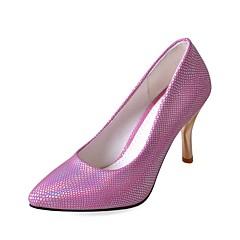Women's Shoes Leatherette Stiletto Heel Heels Heels Wedding / Office & Career / Party & Evening Blue / Silver