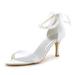 סנדלים - נשים - נעלי חתונה - עקבים / נעלים עם פתח קדמי / שפיץ - חתונה / שמלה / מסיבה וערב - לבן