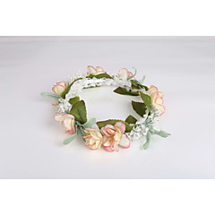 Women's / Flower Girl's Lace / Fabric / Plastic Headpiece - Wedding / Special Occasion / Casual Wreaths 1 Piece