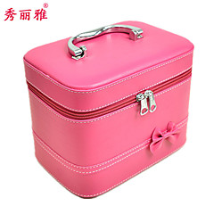 Makeup Storage Cosmetic Box / Makeup Storage Polyester Solid Quadrate 21.5x15x16.5cm Pink / Yellow / Rose