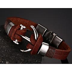 Herrn Ketten- & Glieder-Armbänder Leder Braun Schmuck Für Party Alltag Normal Sport Weihnachts Geschenke 1 Stück
