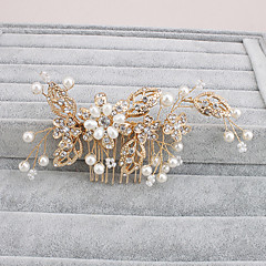 Women's Pearl Headpiece-Wedding Special Occasion Casual Office & Career Outdoor Hair Combs 1 Piece