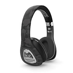 meki zombis bluetooth inalámbricos sobre la oreja los auriculares estéreo inalámbricos / auriculares con cable con el micrófono para