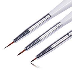 3ks barevný výkres hřebík pero nastavit Nail Art nástroj