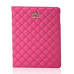 nyeste mode krone pu læder tablet tilfældet stå dækning for iPad Mini 4 (assorterede farver)