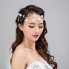 jóias cabelo flor rendas de pérolas de cristal strass tiara na testa das mulheres para a festa de casamento
