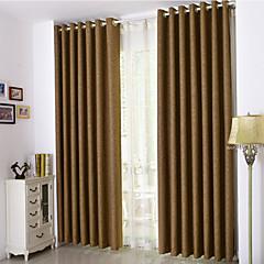 zwei Panele Window Treatment Rustikal / Neoklassisch / Europäisch / Modern , Solide Schlafzimmer Polyester Stoff Vorhänge drapiertHaus