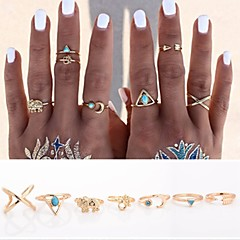 Prstenje Dnevno / Kauzalni Jewelry Legura Žene Prstenje sa stavom / Set 7pcs,Prilagodljive / Univerzalna veličina Zlatna